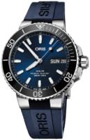 Oris Diving Miesten kello 01 752 7733 4135-07 4 24 65EB Sininen/Kumi