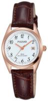 Pulsar Dress Naisten kello PH7448X1 Valkoinen/Nahka Ø26 mm