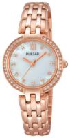 Pulsar Dress Naisten kello PH8168X1 Valkoinen/Punakultasävyinen Ø28