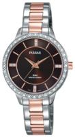 Pulsar Dress Naisten kello PH8217X1 Ruskea/Punakultasävyinen Ø30 mm