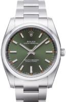 Rolex Oyster Perpetual 34 Miesten kello 114200-0021 Vihreä/Teräs