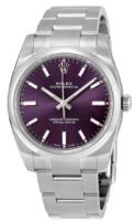 Rolex Oyster Perpetual 34 Miesten kello 114200-0020 Violetti/Teräs