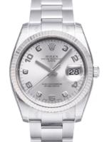 Rolex Perpetual Date Miesten kello 115234-0012 Hopea/Teräs Ø34 mm