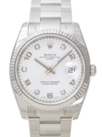 Rolex Oyster Perpetual Date Miesten kello 115234-0010 Hopea/Teräs