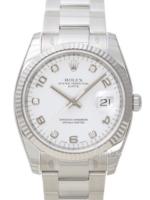 Rolex Oyster Perpetual Date Miesten kello 115234-0010 Hopea/Teräs