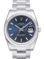 Rolex Oyster Perpetual Date Miesten kello 115234-0004 Sininen/Teräs