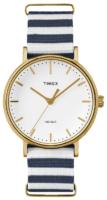 Timex Weekender Naisten kello TW2P91900 Valkoinen/Kullansävytetty