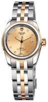 Tudor Glamour Date Naisten kello 51003-0003 Samppanja/18K keltakultaa