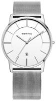 Bering Classic Miesten kello 13139-000 Valkoinen/Teräs Ø39 mm