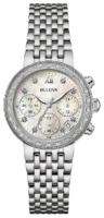 Bulova Diamond Naisten kello 96W204 Valkoinen/Teräs Ø30 mm