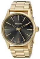 Nixon The Sentry Miesten kello A4501604-00 Musta/Kullansävytetty