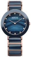 Bering Ceramic Naisten kello 11435-767 Sininen/Punakultasävyinen