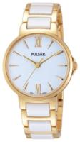 Pulsar Dress Naisten kello PH8076X1 Valkoinen/Kullansävytetty teräs