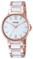 Pulsar Dress Naisten kello PH8078X1 Valkoinen/Punakultasävyinen Ø32