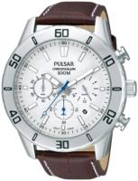 Pulsar 99999 Miesten kello PT3433X1 Valkoinen/Nahka Ø44 mm