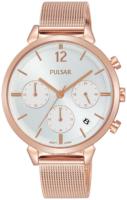 Pulsar 99999 Naisten kello PT3944X1 Hopea/Punakultasävyinen Ø36 mm
