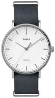 Timex Weekender Miesten kello TW2P91300 Valkoinen/Nahka Ø41 mm