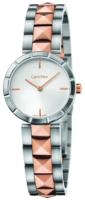 Calvin Klein Dress Naisten kello K5T33BZ6 Hopea/Punakultasävyinen