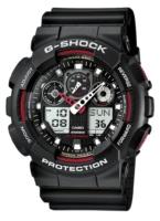 Casio G-Shock Miesten kello GA-100-1A4ER Musta/Muovi Ø51.2 mm