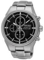 Seiko Chronograph Miesten kello SSC367P1 Musta/Titaani Ø42 mm