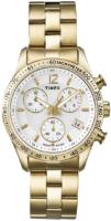 Timex 99999 Naisten kello T2P058D7 Valkoinen/Kullansävytetty teräs