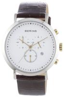 Bering Classic Miesten kello 10540-534 Valkoinen/Nahka Ø40 mm