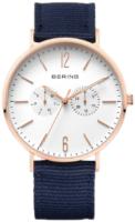 Bering Classic Miesten kello 14240-864 Valkoinen/Tekstiili Ø40 mm