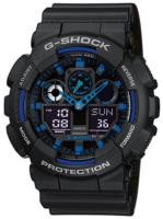 Casio G-Shock Miesten kello GA-100-1A2ER LCD/Muovi Ø51.2 mm