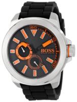 Hugo Boss New York Miesten kello 1513011 Musta/Kumi Ø50 mm