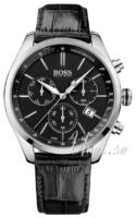 Hugo Boss Swiss Made Miesten kello 1513393 Musta/Nahka Ø46 mm