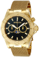 Invicta Pro Diver Miesten kello 80327 Musta/Kullansävytetty teräs