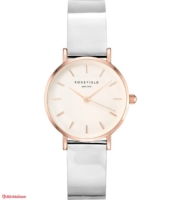 ROSEFIELD -  Premium Gloss White Metallic Rosegold 26mm Rannekello