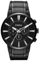 Fossil Chronograph Miesten kello FS4778 Musta/Teräs Ø48 mm