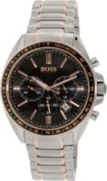 Hugo Boss Chronograph Miesten kello 1513094 Musta/Punakultasävyinen