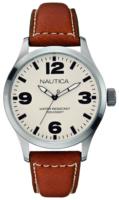 Nautica BFD 102 Miesten kello A12623G Antiikki valkoinen/Nahka Ø44 mm