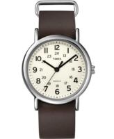 Timex Weekender Miesten kello T2N893 Beige/Teräs Ø38 mm