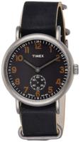Timex Weekender Miesten kello TW2P86700 Musta/Nahka Ø40 mm