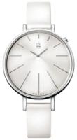 Calvin Klein Dress Naisten kello K3E231L6 Valkoinen/Nahka Ø41 mm