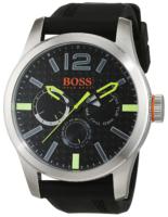 Hugo Boss Paris Miesten kello 1513378 Musta/Kumi Ø47 mm