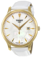 Tissot Tradition Gent T063.610.36.116.00 Valkoinen/Nahka Ø42 mm