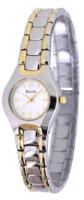 Bulova Dress Naisten kello 98T84 Valkoinen/Kullansävytetty teräs