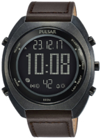 Pulsar Pulsar X Miesten kello P5A029X1 LCD/Nahka Ø45 mm