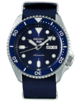 5 Sports Mens 43mm 100m Automatic Blue Dial/Nato