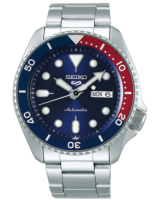5 Sports Mens 43mm 100m Automatic Steel/Blue Dial