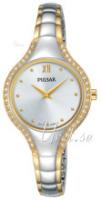 Pulsar Dress Naisten kello PM2228X1 Hopea/Kullansävytetty teräs