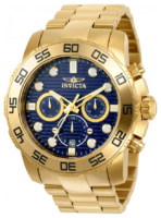 Invicta Pro Diver Miesten kello 22228 Sininen/Kullansävytetty teräs