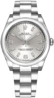 Rolex Oyster Perpetual 34 Naisten kello 114200-0019 Hopea/Teräs Ø34