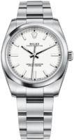 Rolex Oyster Perpetual 34 Naisten kello 114200-0024 Valkoinen/Teräs