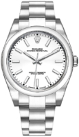 Rolex Oyster Perpetual 39 Miesten kello 114300-0004 Valkoinen/Teräs