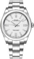 Rolex Oyster Perpetual 36 Naisten kello 116000-0012 Valkoinen/Teräs